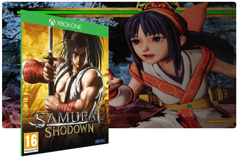 Banner do game Samurai Shodown em mídia digital para Xbox One