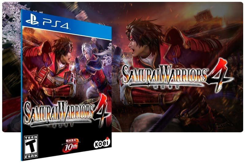 Banner do game Samurai Warriors 4 para PS4