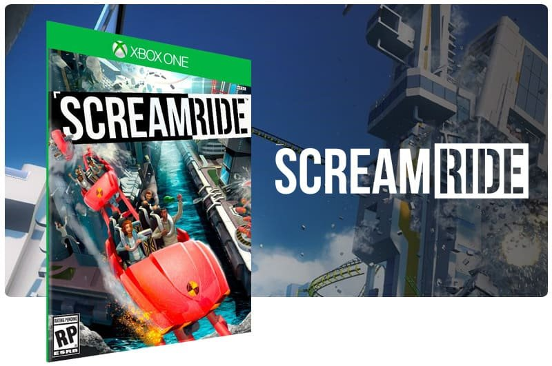 Banner do game Screamride em mídia digital para Xbox One