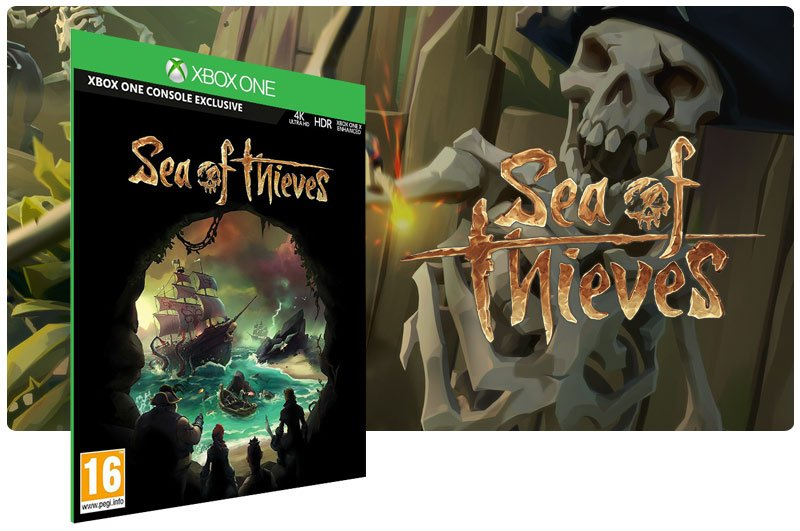 Banner do game Sea of Thieves em mídia digital para Xbox One