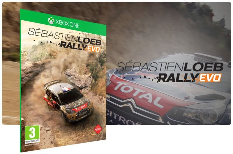 Banner do game Sébastien Loeb Rally Evo em mídia digital para Xbox One