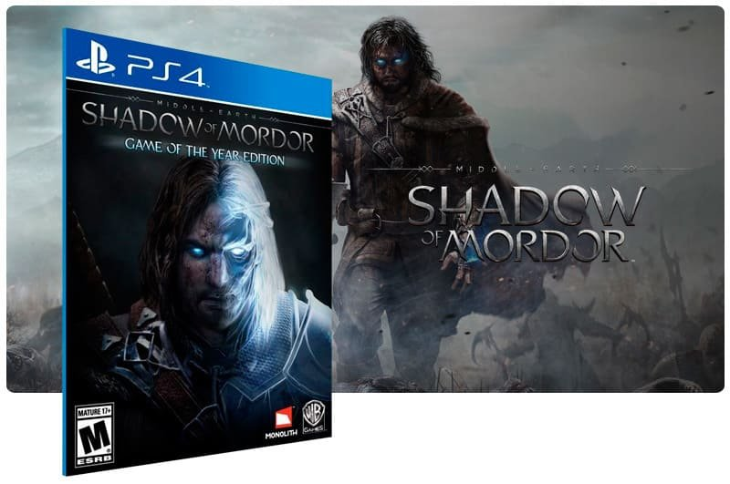 Banner do game Shadow Of Mordor para PS4