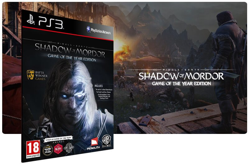 Banner do game Shadow of Mordor Legion Edition para PS3