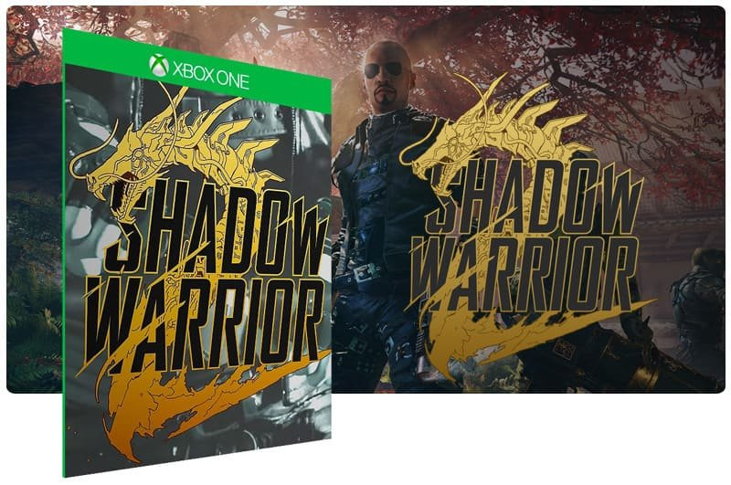 Banner do game Shadow Warrior 2 em mídia digital para Xbox One