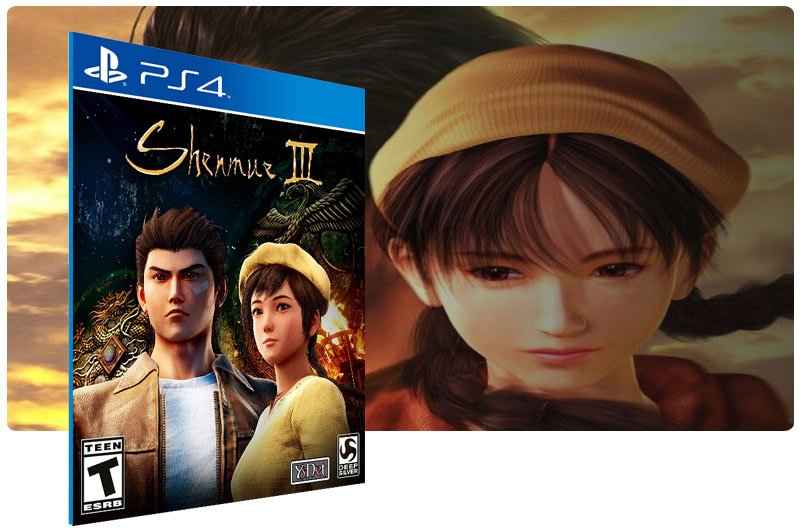 Banner do game Shenmue 3 em mídia digital para PS4