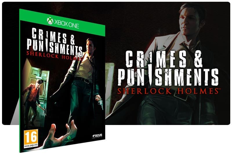 Banner do game Sherlock Holmes: Crimes and Punishments em mídia digital para Xbox One
