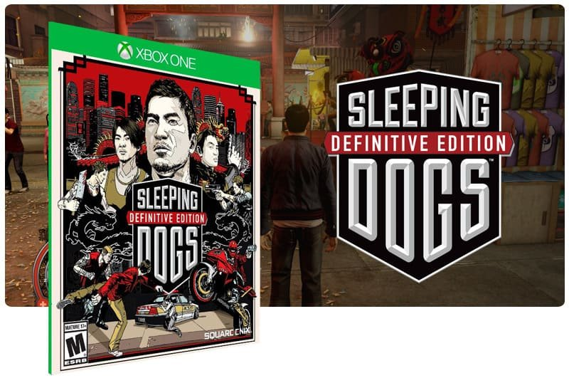 Banner do game Sleeping Dogs: Definitive Edition em mídia digital para Xbox One