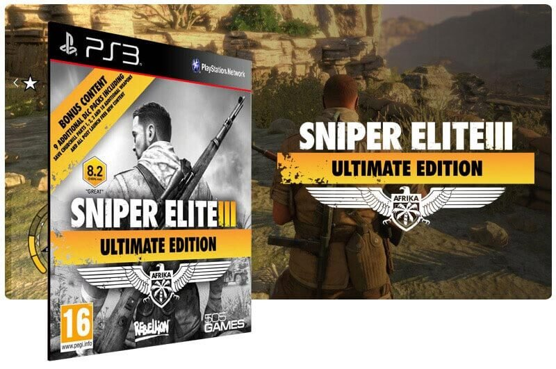 Banner do game Sniper Elite 3 Ultimate Edition para PS3