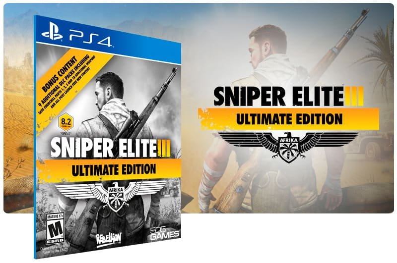 Banner do game Sniper Elite 3 Ultimate Edition para PS4