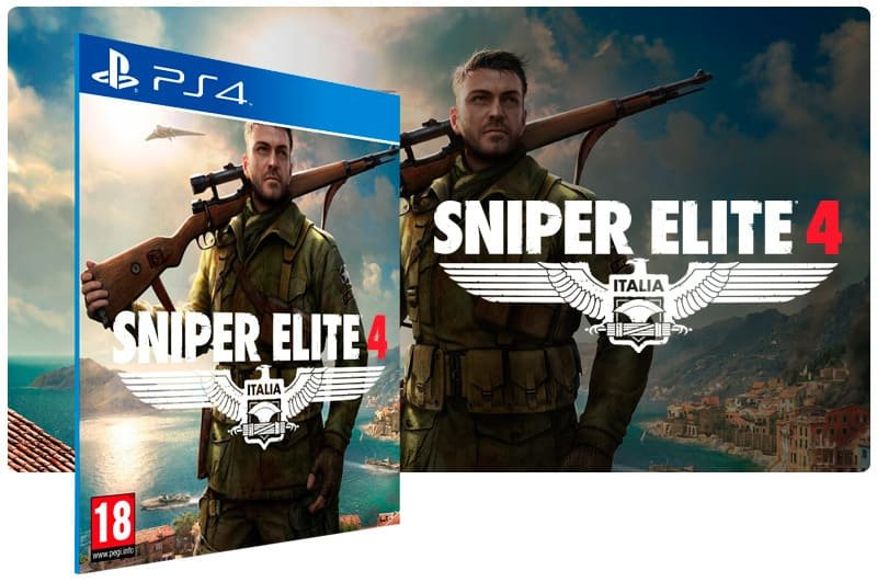 Banner do game Sniper Elite 4 para PS4