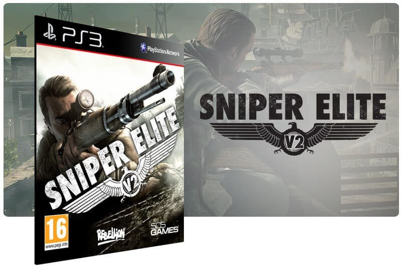 Banner do game Sniper Elite V2 para PS3