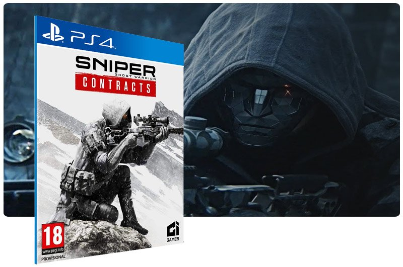 Banner do game Sniper Ghost Warrior Contracts em mídia digital para PS4