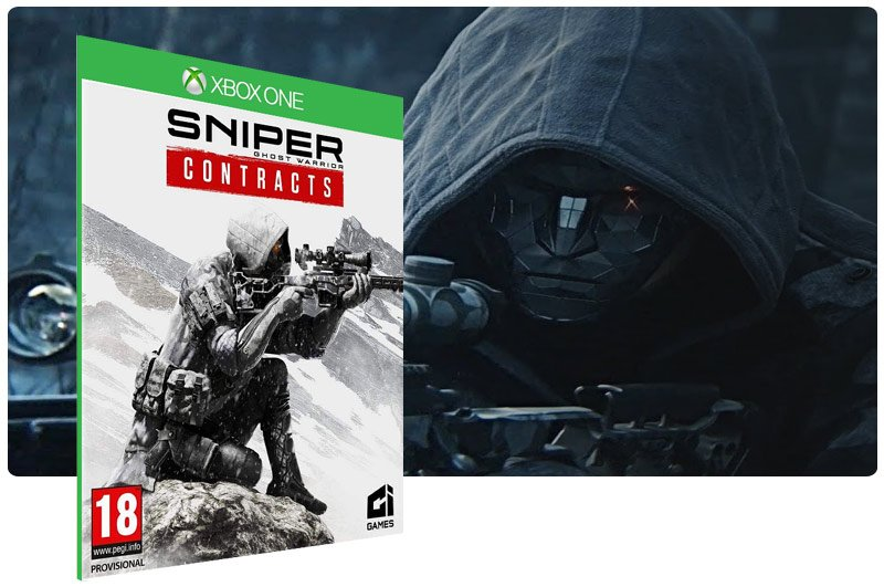 Banner do game Sniper Ghost Warrior Contracts em mídia digital para Xbox One