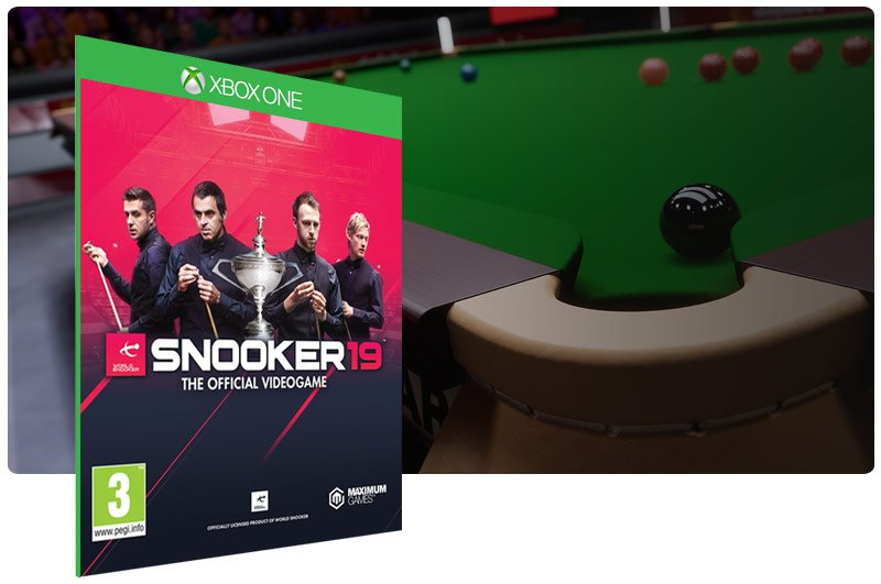 Banner do game Snooker 19 em mídia digital para Xbox One