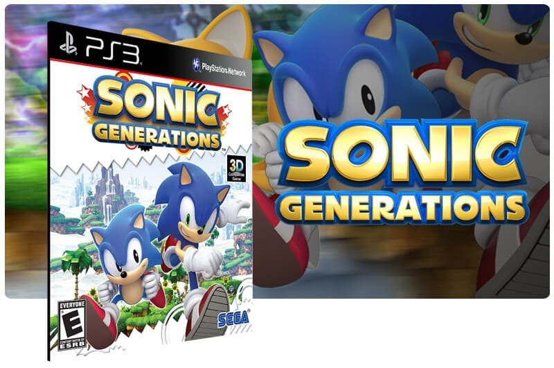 Banner do game Sonic Generations para PS3