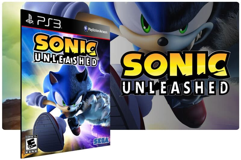 Banner do game Sonic Unleashed para PS3