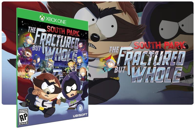Banner do game South Park: The Fractured but Whole em mídia digital para Xbox One