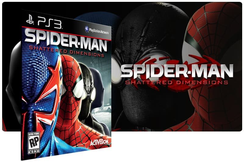 Banner do game Spider Man: Shattered Dimensions para PS3