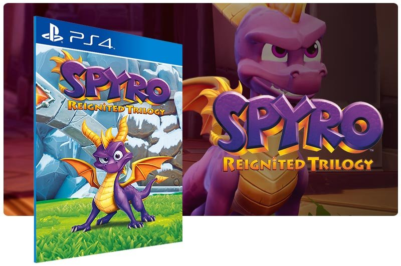 Banner do game Spyro Reignited Trilogy em mídia digital para PS4