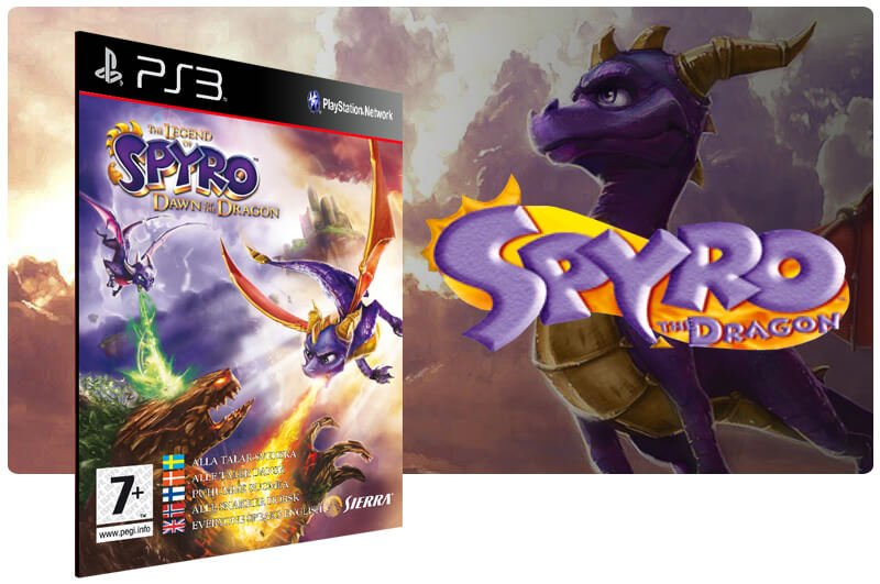 Banner do game Spyro the Dragon para PS3