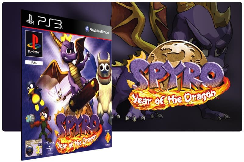 Banner do game Spyro year of the Dragon (Psone Classic) para PS3