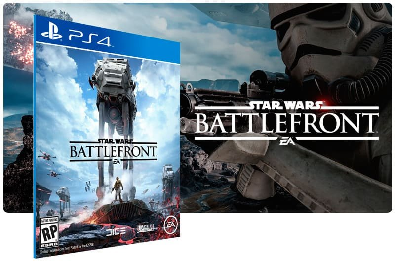 Banner do game Star Wars Battlefront para PS4