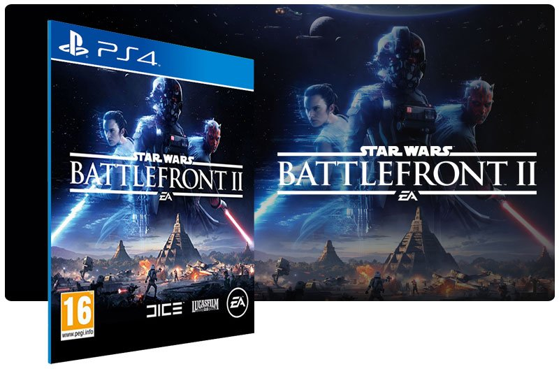 Banner do game Star Wars Battlefront 2 para PS4