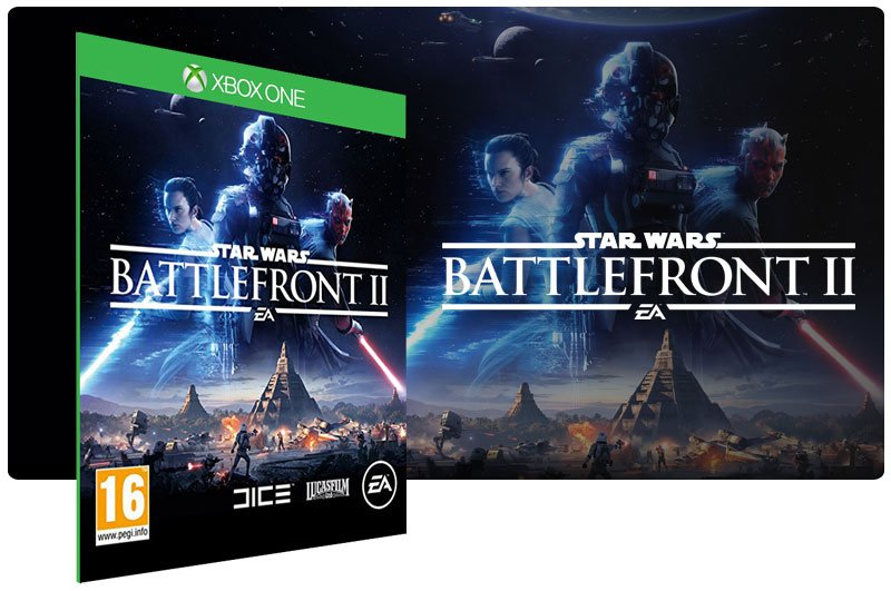 Banner do game Star Wars: Battlefront 2 em mídia digital para Xbox One