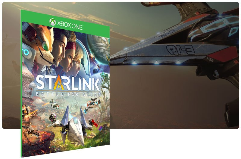 Banner do game Starlink Battle for Atlas em mídia digital para Xbox One