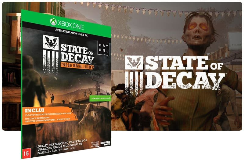 Banner do game State of Decay: Year One Survival Edition em mídia digital para Xbox One