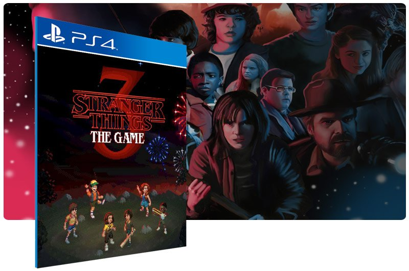 Banner do game Stranger Things 3: The Game para PS4