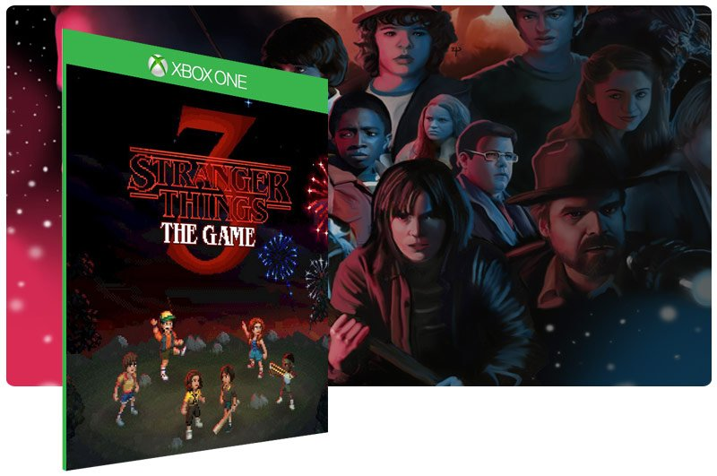 Banner do game Stranger Things 3: The Game em mídia digital para Xbox One
