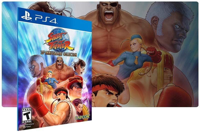 Banner do game Street Fighter 30th Anniversary Collection em mídia digital para PS4