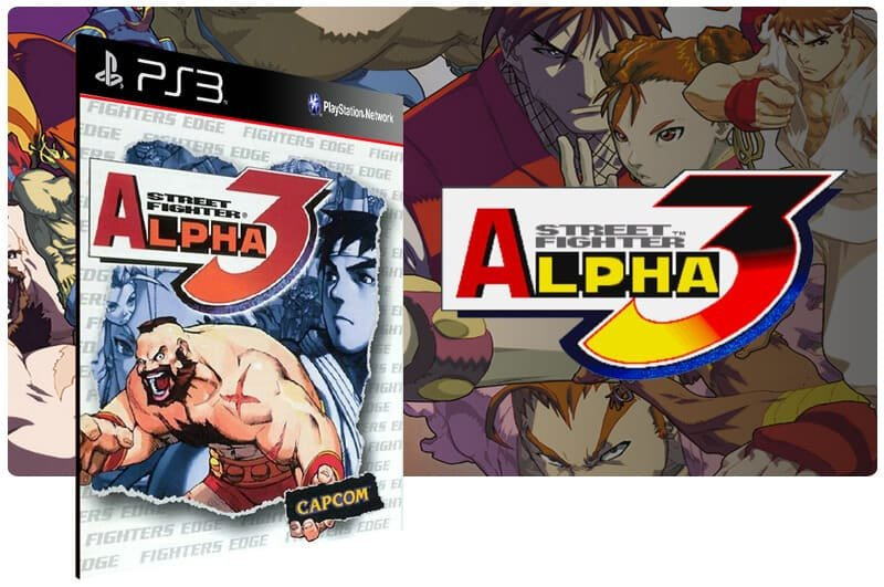 Banner do game Street Fighter Alpha 3 para PS3