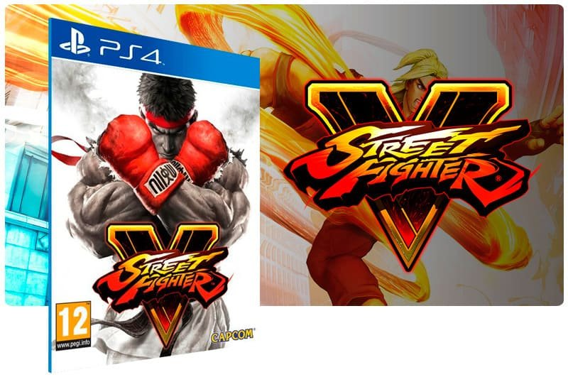 Banner do game Street Fighter V para PS4
