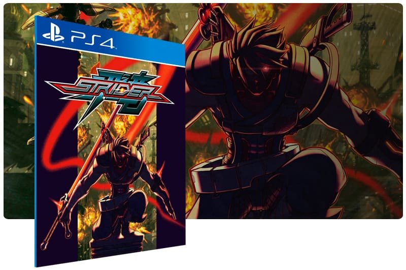 Banner do game Strider para PS4