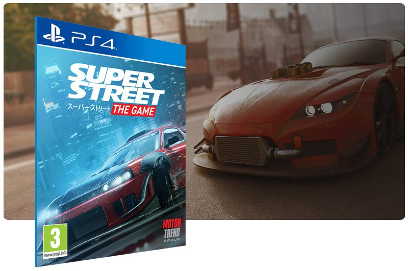 Banner do game Super Street The Game para PS4