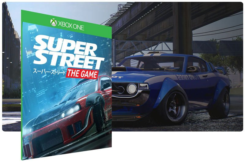Banner do game Super Street: The Game em mídia digital para Xbox One