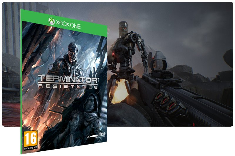 Banner do game TERMINATOR: RESISTANCE em mídia digital para Xbox One