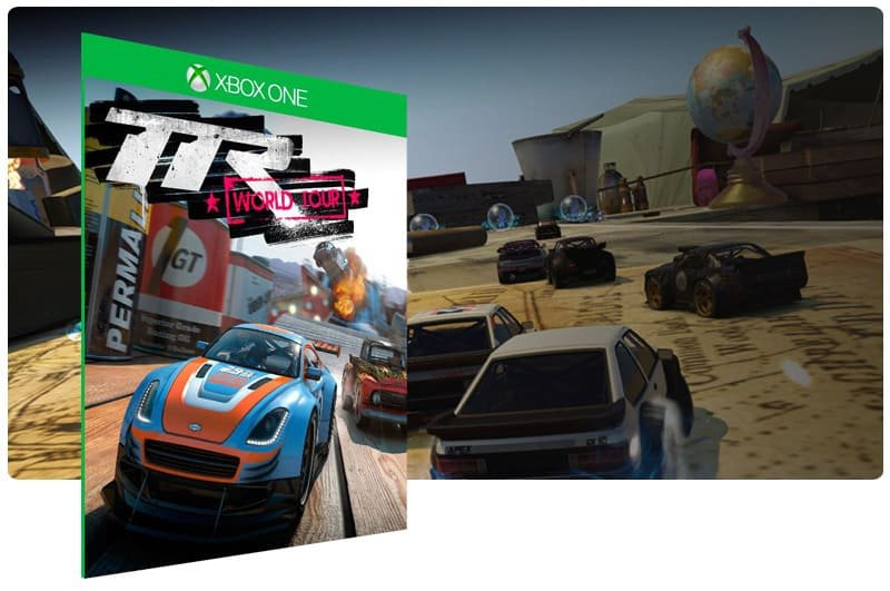 Banner do game Table Top Racing World Tour em mídia digital para Xbox One