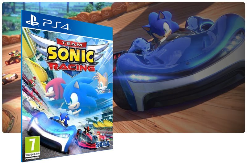 Banner do game Team Sonic Racing para PS4