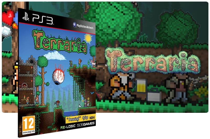 Banner do game Terraria para PS3