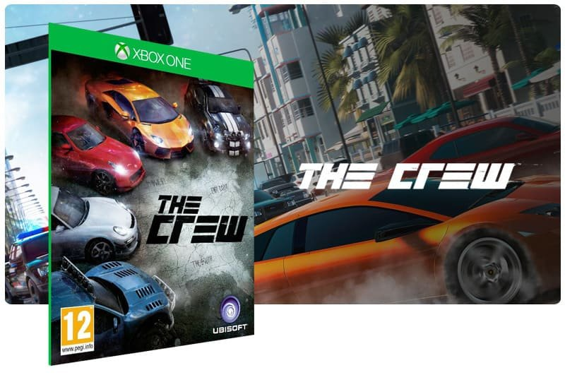 Banner do game The Crew em mídia digital para Xbox One