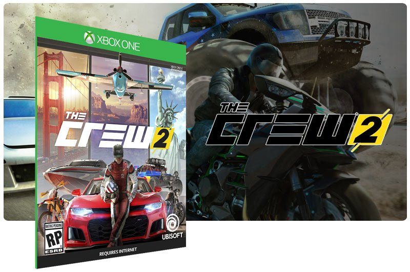 Banner do game The Crew 2 Standard Edition em mídia digital para Xbox One