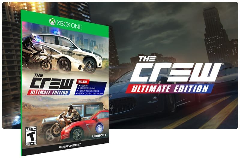 Banner do game The Crew: Ultimate Edition em mídia digital para Xbox One