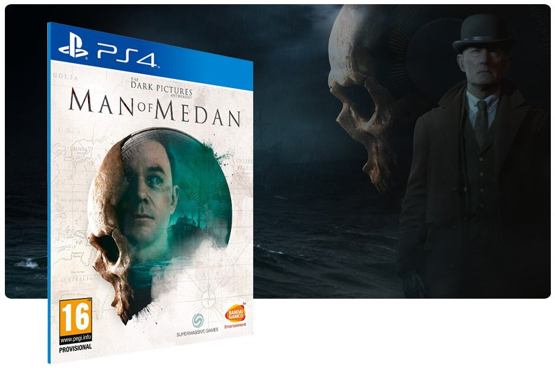 Banner do game The Dark Pictures Anthology: Man of Medan para PS4
