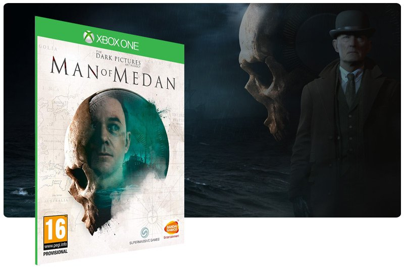 Banner do game The Dark Pictures Anthology: Man of Medan em mídia digital para Xbox One