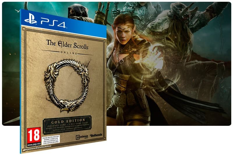 Banner do game The Elder Scrolls Online: Gold Edition para PS4
