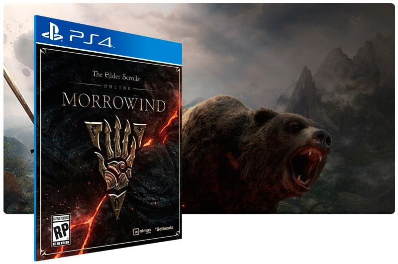 Banner do game The Elder Scrolls Online: Morrowind para PS4