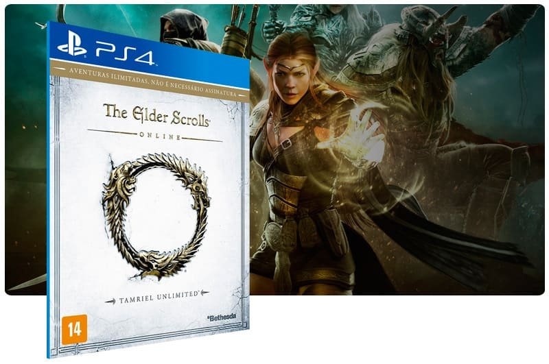 Banner do game The Elder Scrolls Online Tamriel Unlimited para PS4